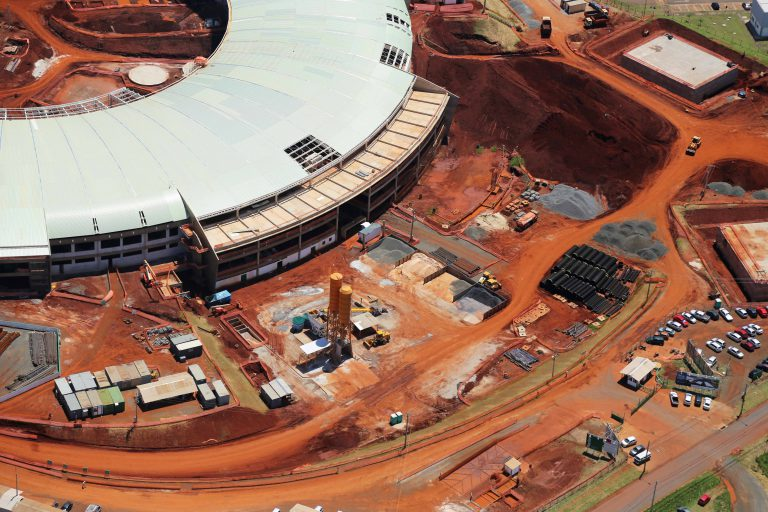 Foto Aérea das Obras do Acelerador de Partículas - Campinas - SP