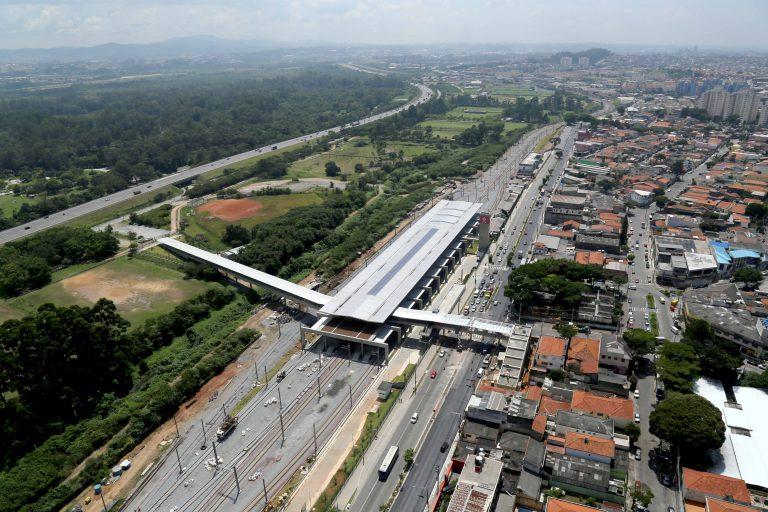 Fotografia Aérea da Estação do Metro de Guarulhos