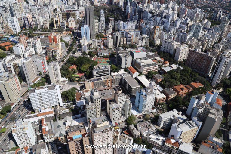 Fotografias Aéreas Universidade Mackenzie São Paulo Embrafoto