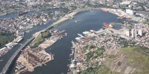 Fotografias Aéreas Obras da Ampliação do Porto de Niteroi - RJ - Embrafoto